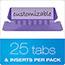 Pendaflex® Hanging File Folder Tabs, 1/5 Tab, Two Inch, Violet Tab/White Insert, 25/Pack Thumbnail 2