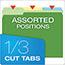 Pendaflex® CutLess File Folders, 1/3 Cut Top Tab, Letter, Assorted, 100/Box Thumbnail 5