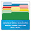 Pendaflex® CutLess File Folders, 1/3 Cut Top Tab, Letter, Assorted, 100/Box Thumbnail 4
