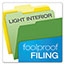 Pendaflex® CutLess File Folders, 1/3 Cut Top Tab, Letter, Assorted, 100/Box Thumbnail 3