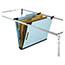 Pendaflex® Pressboard Hanging Classi-Folder, 2 Divider/6-Sections, Letter, Blue Thumbnail 2