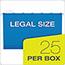 "Pendaflex® SureHook Reinforced Hanging Box Files, 3"" Expansion, Legal, Blue, 25/Box Thumbnail 2"