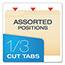 Pendaflex® Top Tab File Folders, 1/3 Cut Top Tab, Letter, Manila, 100/Box Thumbnail 3