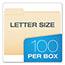 Pendaflex® Top Tab File Folders, 1/3 Cut Top Tab, Letter, Manila, 100/Box Thumbnail 2