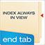 Pendaflex® End Tab Fastener Folders, Two Fastener, Letter, Manila, 50/Box Thumbnail 6
