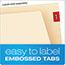 Pendaflex® End Tab Fastener Folders, Two Fastener, Letter, Manila, 50/Box Thumbnail 4