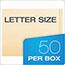 Pendaflex® End Tab Fastener Folders, Two Fastener, Letter, Manila, 50/Box Thumbnail 2