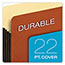 Pendaflex® File Pocket with Tyvek, Top Tab, Straight Cut, 1 Pocket, Letter, Brown, 10/BX Thumbnail 5