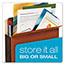 Pendaflex® File Pocket with Tyvek, Top Tab, Straight Cut, 1 Pocket, Letter, Brown, 10/BX Thumbnail 2