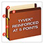 Pendaflex® Premium Reinforced Expanding File Pockets, Straight Cut, 1 Pocket, Letter, Red Thumbnail 6