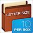 Pendaflex® Premium Reinforced Expanding File Pockets, Straight Cut, 1 Pocket, Letter, Red Thumbnail 3