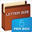 Pendaflex® Premium Reinforced Expanding File Pockets, Straight Cut, 1 Pocket, Legal, Red Thumbnail 3