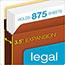 Pendaflex® Heavy-Duty File Pockets, Straight Cut, 1 Pocket, Legal, Redrope Thumbnail 5