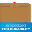 Pendaflex® Kraft Fastener Folders, 2 Fasteners, 1/3 Cut Tabs, Letter, 50/Box Thumbnail 6