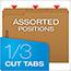 Pendaflex® Kraft Fastener Folders, 2 Fasteners, 1/3 Cut Tabs, Letter, 50/Box Thumbnail 5