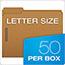 Pendaflex® Kraft Fastener Folders, 2 Fasteners, 1/3 Cut Tabs, Letter, 50/Box Thumbnail 2
