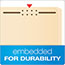 Pendaflex® Fastener Folders, 2 Fasteners, 1/3 Cut Tabs, Letter, Manila, 50/Box Thumbnail 6