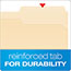 Pendaflex® Fastener Folders, 2 Fasteners, 1/3 Cut Tabs, Letter, Manila, 50/Box Thumbnail 4