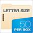 Pendaflex® Fastener Folders, 2 Fasteners, 1/3 Cut Tabs, Letter, Manila, 50/Box Thumbnail 2