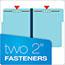 "Pendaflex® Pressboard Folders, 2 Fasteners, 1"" Expansion, 1/3 Cut, Letter, Blue, 25/Box Thumbnail 5"