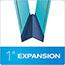 "Pendaflex® Pressboard Folders, 2 Fasteners, 1"" Expansion, 1/3 Cut, Letter, Blue, 25/Box Thumbnail 4"