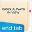 Pendaflex® End Tab Expansion Folders, 2 Fasteners, Straight Cut Tab, Letter, Manila, 50/Box Thumbnail 6