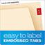 Pendaflex® End Tab Expansion Folders, 2 Fasteners, Straight Cut Tab, Letter, Manila, 50/Box Thumbnail 4