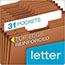 Pendaflex® Heavy-Duty Expanding Open Top File, 31 Pockets, 1/3 Tab, Letter, Brown Thumbnail 2