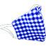 Pongs® Children's Cotton Face Mask, Washable, Blue Plaid Thumbnail 1