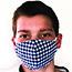 Pongs® Children's Cotton Face Mask, Washable, Blue Plaid Thumbnail 2