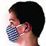 Pongs® Children's Cotton Face Mask, Washable, Blue Plaid Thumbnail 3