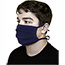 Pongs® Cotton Face Mask, Pleated, Washable, Tied, Blue Thumbnail 1