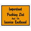 "Tape Logic® Important Packing List And/Or Invoice EncloseD Envelopes, 4 1/2"" x 6"", Orange, 1000/CS Thumbnail 1"