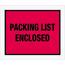 "Tape Logic® Packing List EncloseD Envelopes, 10"" x 12"", Red, 500/CS Thumbnail 1"