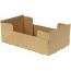"""MeyerPak™ J-Tray, 4-Corner, Kraft, 10 1/8"""" x 5 7/8"""" x 2 1/2"""", 400/CS Thumbnail 1"""