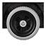 Rubbermaid® Commercial Structural Foam Tilt Truck, Rectangular, 600lb Cap, Black Thumbnail 4