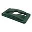 Rubbermaid® Commercial Slim Jim Single Stream Recycling Top for Slim Jim Containers, Dark Green Thumbnail 3