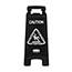 Rubbermaid® Commercial Executive 2-Sided Multi-Lingual Caution Sign, Black/White, 10 9/10 x 26 1/10 Thumbnail 4