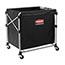 Rubbermaid® Commercial Collapsible X-Cart, Steel, Eight Bushel Cart, 24 1/10w x 35 7/10d, Black/Silver Thumbnail 4