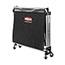 Rubbermaid® Commercial Collapsible X-Cart, Steel, Eight Bushel Cart, 24 1/10w x 35 7/10d, Black/Silver Thumbnail 2