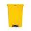 Rubbermaid® Commercial Slim Jim Resin Step-On Container, Front Step Style, 24 gal, Yellow Thumbnail 2