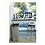 Rubbermaid® Commercial Untouchable® Waste Container, Square, Plastic, 23gal, Beige Thumbnail 2