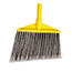 """Rubbermaid® Commercial Angled Large Broom, Poly Bristles, 46 7/8"""" Metal Handle, Yellow/Gray Thumbnail 2"""