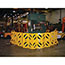 """Rubbermaid® Commercial Portable Mobile Safety Barrier, Plastic, 13ft x 40"""", Yellow Thumbnail 2"""