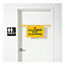 Rubbermaid® Commercial Site Safety Hanging Sign, 50w x 1d x 13h, Yellow Thumbnail 2