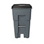 Rubbermaid® Commercial Brute Rollout Heavy-Duty Waste Container, Square, Polyethylene, 65gal, Gray Thumbnail 2