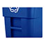 Rubbermaid® Commercial Brute Recycling Rollout Container, Square, 50gal, Blue Thumbnail 2