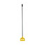 Rubbermaid® Commercial Invader Aluminum Side-Gate Wet-Mop Handle, 1 dia x 60, Gray/Yellow Thumbnail 2