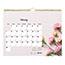 "Blueline® Romantic Monthly Wall Calendar, 8"" x 11"", Classic Floral Design, 2021 Thumbnail 4"