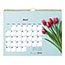 "Blueline® Romantic Monthly Wall Calendar, 8"" x 11"", Classic Floral Design, 2021 Thumbnail 3"
